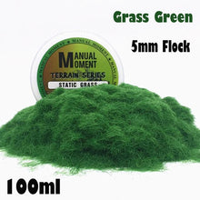Load image into Gallery viewer, Miniature Scene Model Turf Flock Lawn Nylon Grass Powder STATIC GRASS Hobby Terrain Series  Material
