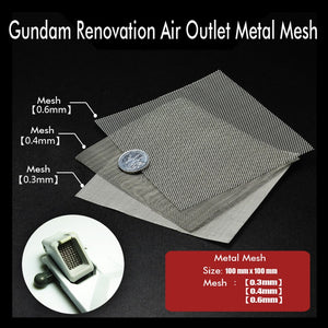 Gundam Upgrade Accessories Details Of Renovation Air Outlet Metal Mesh 0.3mm/0.4mm/0.6mm Modeling Hobby Craft Accessory