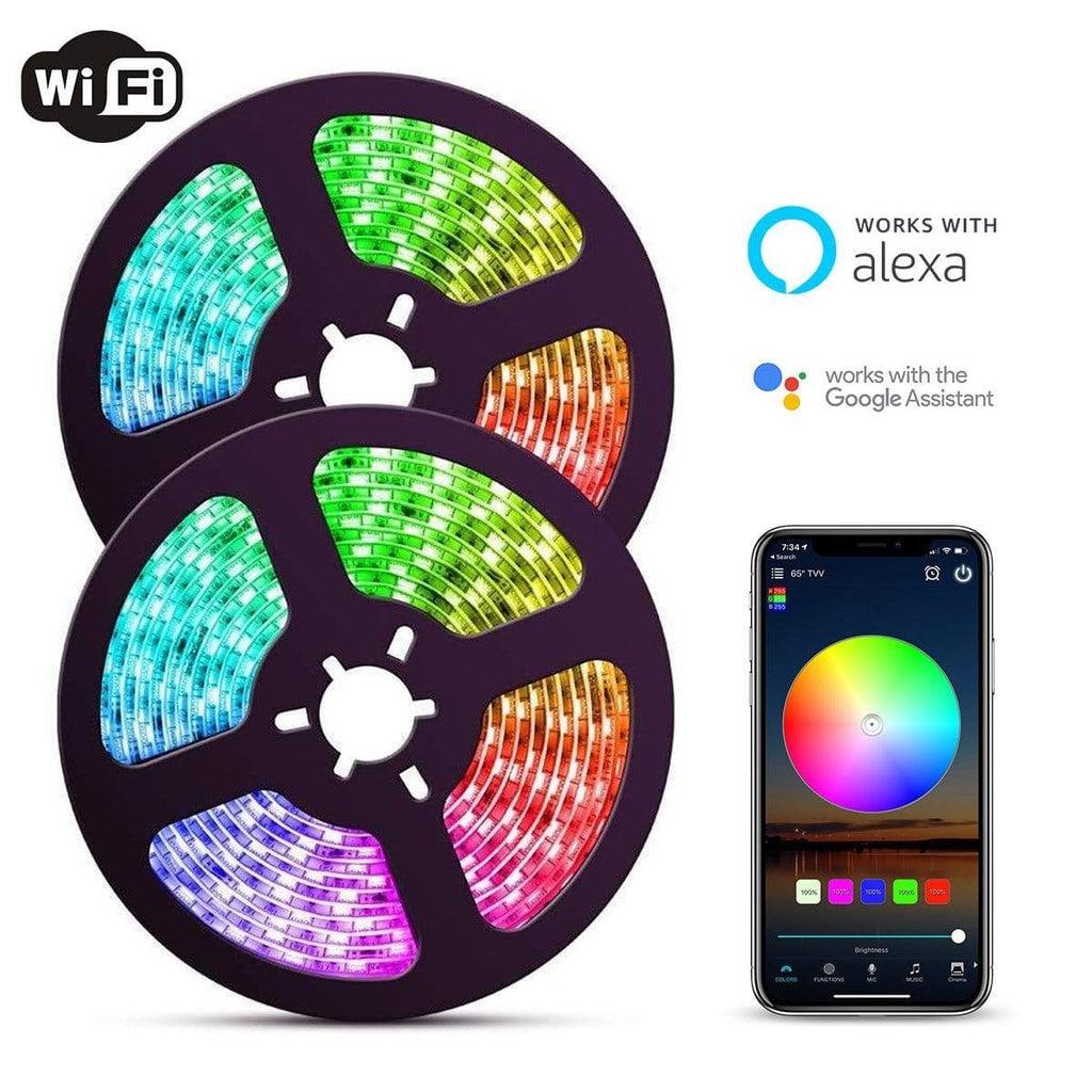 32FT WiFi LED Strip Light With App Control | Colored Lights for Rooms