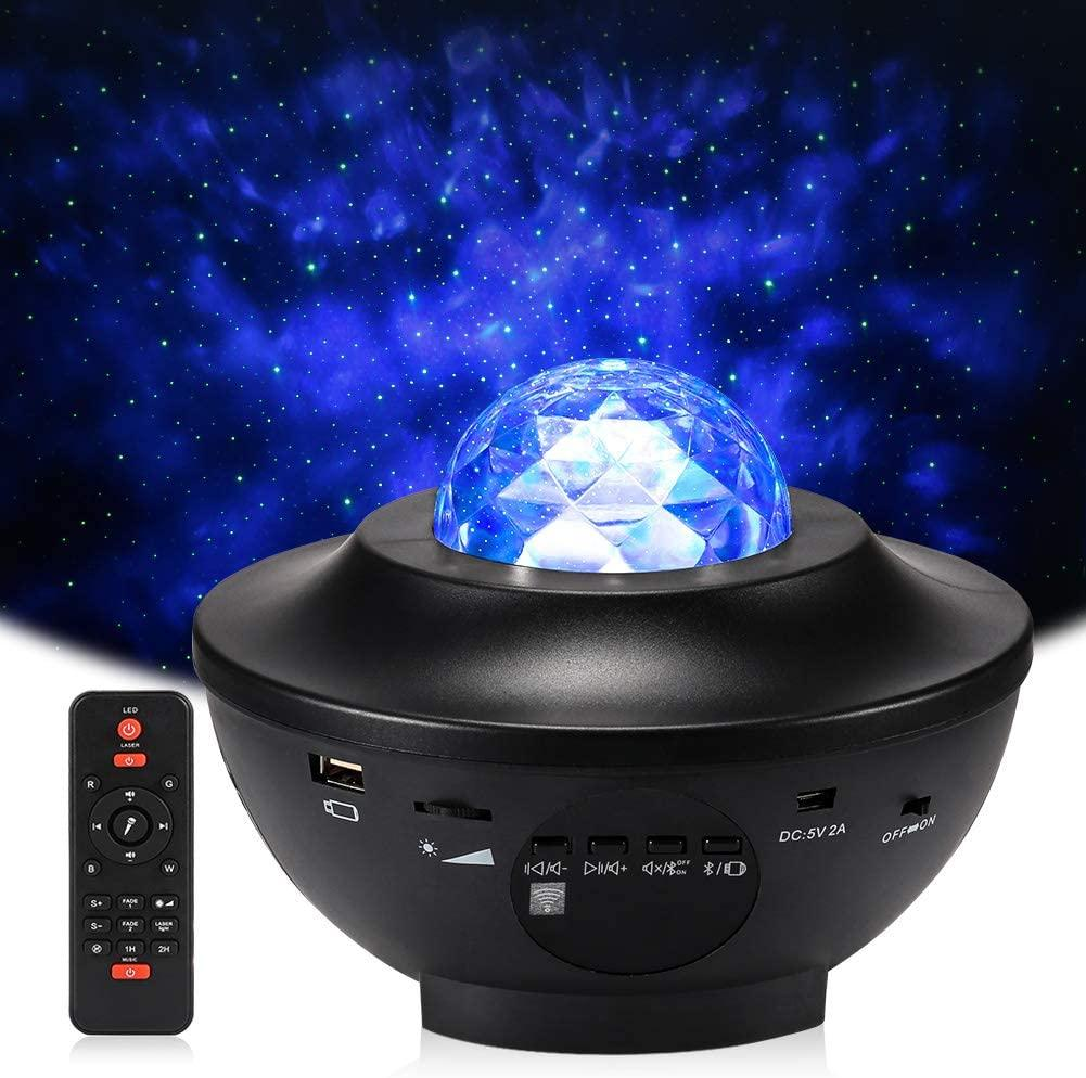 The Wave Lights Starry Night Projector - W/ Bluetooth Speaker