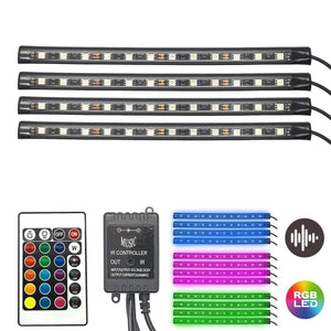 Wave Lights Car Interior LED Strips