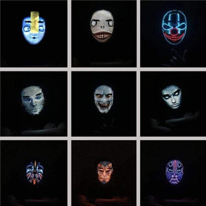 The Wave Lights Face Mask Shifting LED Face Mask