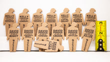 Load image into Gallery viewer, Set of Georgia based tiny trumps for the 2020 senate runoff election. tiny trumps each have a slogan printed on them about either Kelly Loeffler or David Perdue