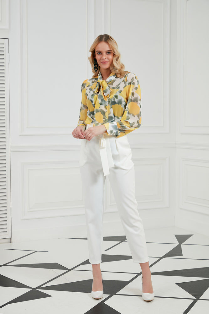 Load image into Gallery viewer, Ankle Length Trousers In White - Vercia Fashion Group