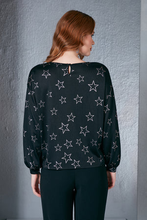 Star Signed Patterned Black Light Knitwear - Vercia Fashion Group