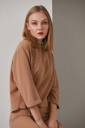 Relaxed Loungewear Set In Camel - Vercia Fashion Group