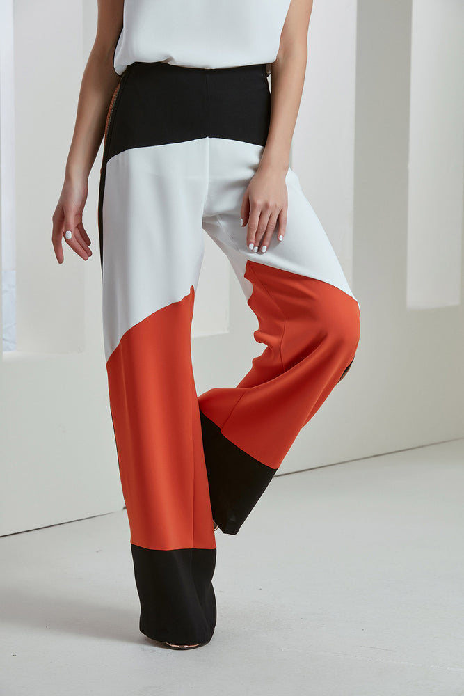 Spring/Summer Mix Block Colours Trousers