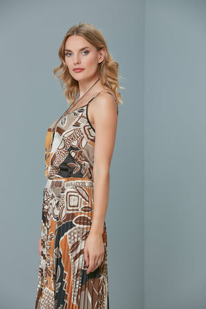 Load image into Gallery viewer, Floral Printed Camisole Top And Pleated Skirt Set - Vercia Fashion Group