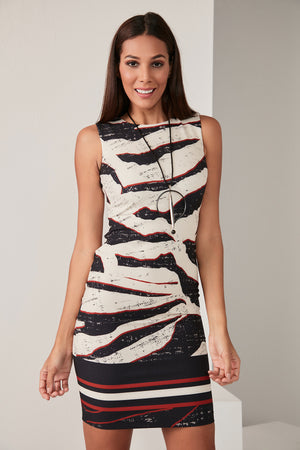 Zebra Print Sleeveless Bodycon Dress - Vercia Fashion Group