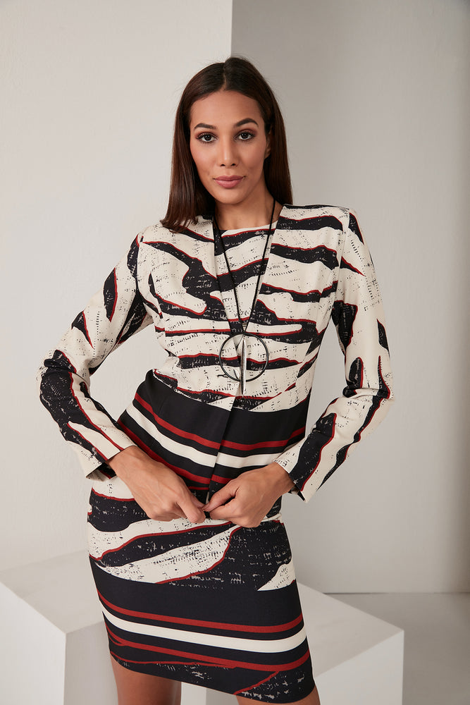 Load image into Gallery viewer, Zebra Print Elegant Jacket - Vercia Fashion Group
