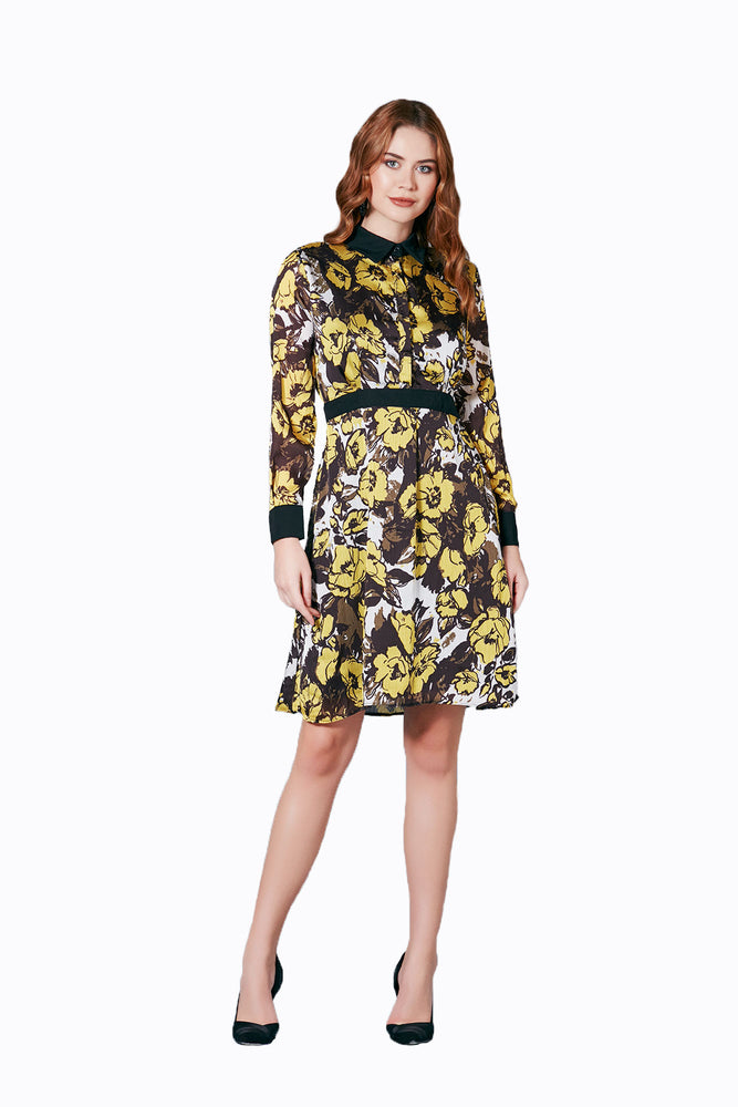 Load image into Gallery viewer, Floral Print Mini Party Dress - Vercia Fashion Group