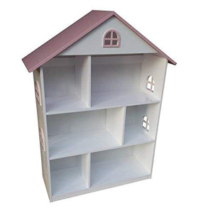 Wooden Doll House Shelf Bookcase Storage Rack Display Shelving Unit Children's Books Games Toys Tidy Display Storage - Vercia Fashion Group