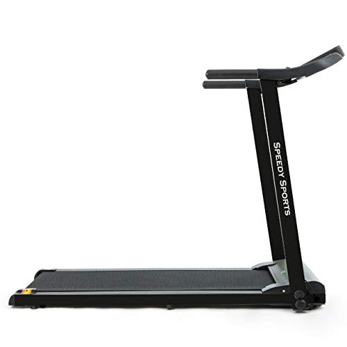 Buyer Empire Treadmill Motorised Running Belt Machine Digital Folding Incline Running and Walking Exercise Fitness Machine with LED Display Easy Control Home Gym (White) (Black) - Vercia Fashion Group