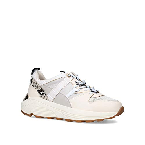 KGEIGER Women's Loaded Sneaker, Bone, 8 UK - Vercia Fashion Group
