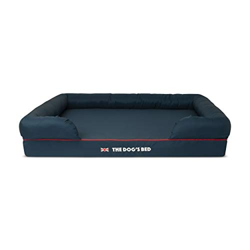 The Dog's Bed Orthopaedic Dog Bed Heritage Collection XL Blue/Red Waterproof Memory Foam Dog Bed - Vercia Fashion Group