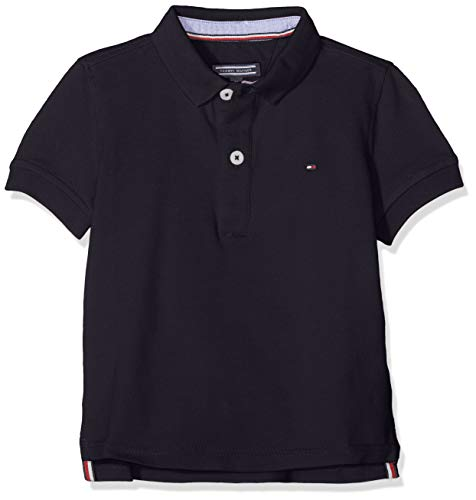 Load image into Gallery viewer, Tommy Hilfiger Boy's Tommy Polo S/s Shirt, Blue (Sky Captain 420), 164 (Size: 14) - Vercia Fashion Group