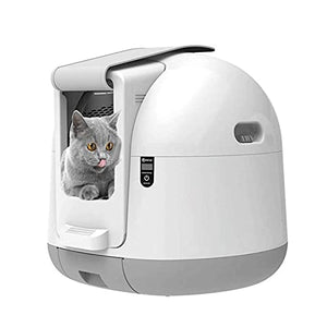 Bdesign Extra Large Smart Cat Toilet,Automatic Cat Sandbox Induction Rotary Cleaning Cat Robot Litter Large Kitty Self Cleaning Litter Box - Vercia Fashion Group