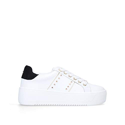 KGEIGER Women's LING Sneaker, White, 4 UK - Vercia Fashion Group