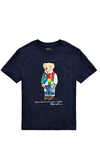 Load image into Gallery viewer, Polo Ralph Lauren - T-Shirt 323838244002 – Blue Bear Children's T-Shirt - Blue - L (14-16 Years) - Vercia Fashion Group