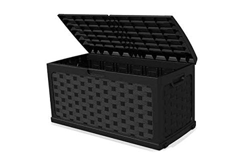 Load image into Gallery viewer, Rattan Plastic Outdoor Storage Box. - Vercia Fashion Group