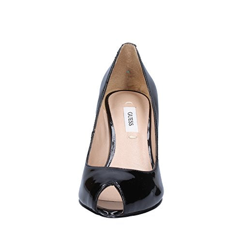 Guess Women's Pumps Shoe MOD. Angela Patent FL2ANGPAT07 col. Black in Paint. Black Size: 7 UK - Vercia Fashion Group