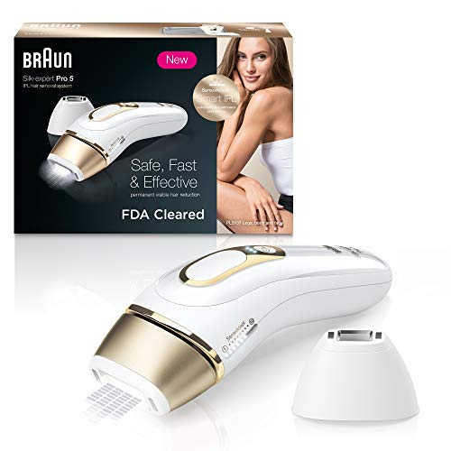 Braun IPL Hair Removal for Women, Silk Expert Pro 5 PL5137 with Venus Swirl Razor, FDA Cleared, Permanent Reduction in Hair Regrowth for Body & Face, Corded - Vercia Fashion Group