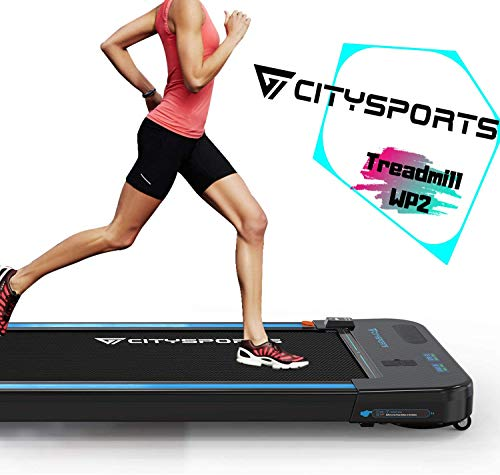 CITYSPORTS Treadmill 440W Motor, Electric Walking Machine Bluetooth Built-in Speakers, Adjustable Speed, LCD Screen & Calorie Counter, Ultra Thin and Silent, Intended for Home/Office - Vercia Fashion Group