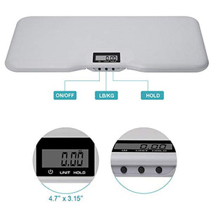 High Accuracy X- Large Pet Scale for Big Dog with textured surface, Capacity of 150kg (±50g), Large Display - Vercia Fashion Group