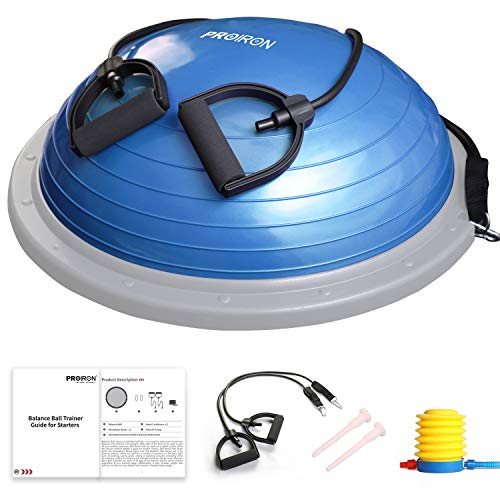 PROIRON Balance Trainer with Resistance Bands, Balance Board, Yoga Half Ball, Air Dome Balance Ball with Pump,Improve Core and Ab Strength with Full Body Home Gym Workouts Or Fitness Training - Vercia Fashion Group