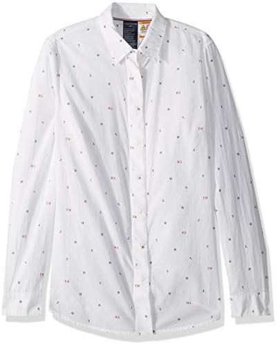 Tommy Hilfiger Adaptive Women's Magnetic Button Shirt Regular Fit, Classic White, Medium - Vercia Fashion Group