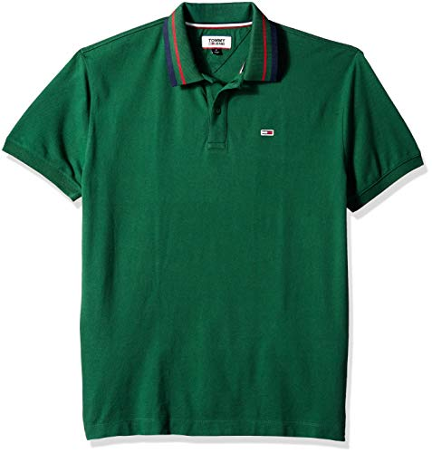 Tommy Hilfiger Men's Polo Shirt Classics Collection, Hunter Green, XL - Vercia Fashion Group