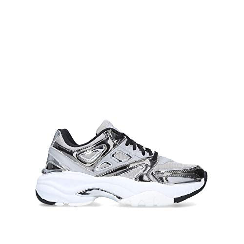 KG Kurt GEIGER Lack Trainers, Size: 8/41 - Gunmetal - Vercia Fashion Group