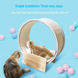 RSTJVB Multifunctional Cat Pet Treadmill, Large And Durable Sports Running Wheel, Suitable for Cat Indoor Sports Cat Climbing Frame - Vercia Fashion Group