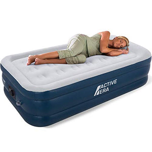 Active Era Air Bed - Premium Single Size AirBed with a Built-in Electric Pump and Pillow - Vercia Fashion Group