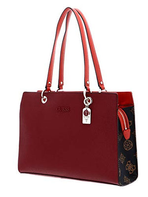 Load image into Gallery viewer, Guess Isla Elite Carryall Women's Satchel Bags, Merlot Multi, One Size - Vercia Fashion Group