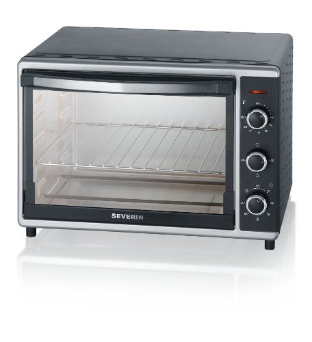 Severin 2058 Toast Oven with Convection, 42 Litre, 1800 W, Black/Silver, Steel - Vercia Fashion Group