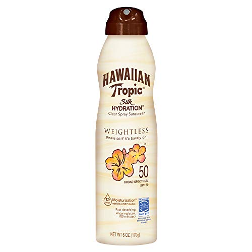 Hawaiian Tropic Silk Hydration Sunscreen Spray, SPF 50, 6 Ounce - Pack Of 3 - Vercia Fashion Group