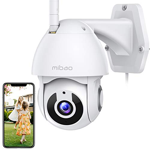 1296P Security Camera Indoor/Outdoor, Mibao WiFi Camera with Pan/Tilt 360° View, IP66 Waterproof, Night Vision, Motion Detection, 2-Way Audio, iOS/Android APP, Compatible with Alexa - Vercia Fashion Group