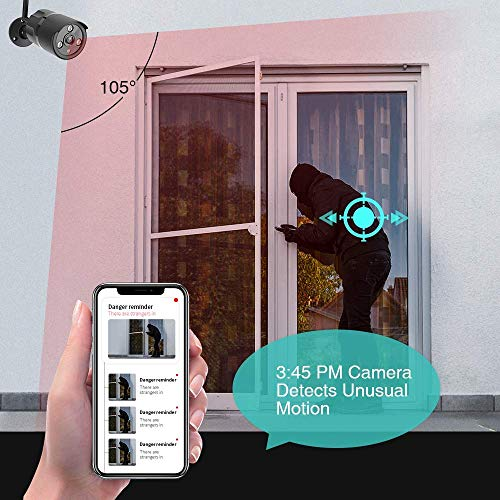 1080P Outdoor Security Camera - IP66 Waterproof WiFi Camera, FHD Night Vision, A.I. Motion Detection, Instant Alert, 2-Way Audio, Live Video Zooms Function, Cloud Storage/Mirco SD Card - Vercia Fashion Group