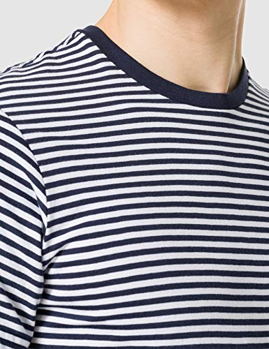 Tommy Jeans Men's TJM Tommy Classics Stripe TEE T-Shirt, Twilight Navy / White, L - Vercia Fashion Group