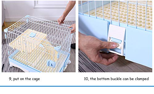 QNMM Large Cat Cage Kitten Crate Pet Enclosure Cat Cage Home Indoor with Cat Door Diy Compartment Double 3 or 4-tier Large Size Cat Villa Cage - Vercia Fashion Group