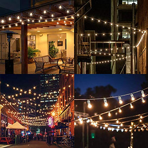 Load image into Gallery viewer, LiyuanQ Solar String Lights Outdoor, G40 Globe Bulbs String Lights Garden 15 LED Festoon Waterproof 8 Modes Plastic Patio Edison Lights Decoration Gazebo, Garden, Party, Wedding, Birthday(Warm) - Vercia Fashion Group