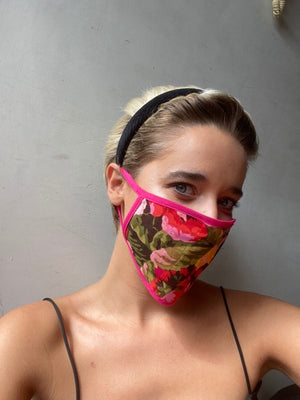 Vercia Designer Washable Protective Fuschia Print Face Mask - Vercia Fashion Group