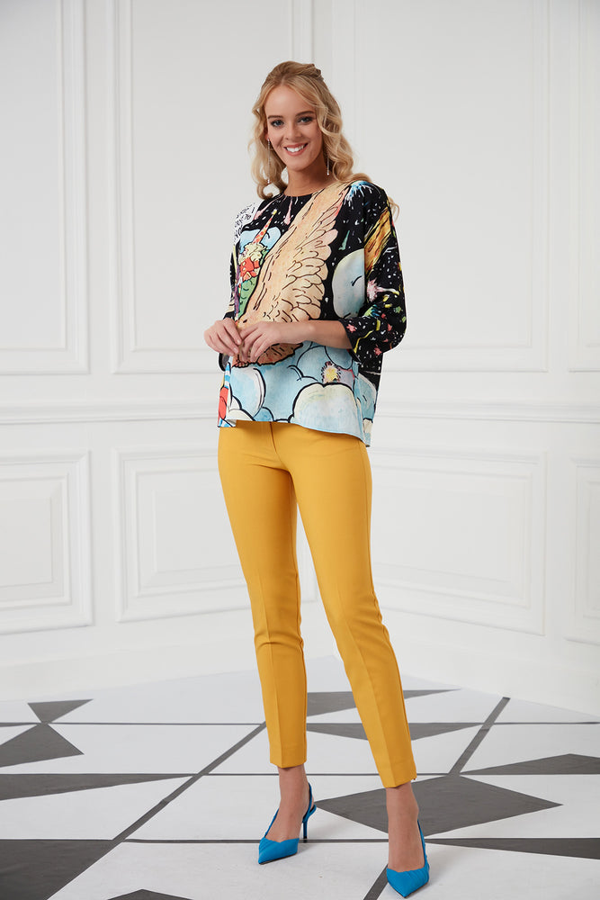 Ankle Length Mustard Yellow Trousers - Vercia Fashion Group