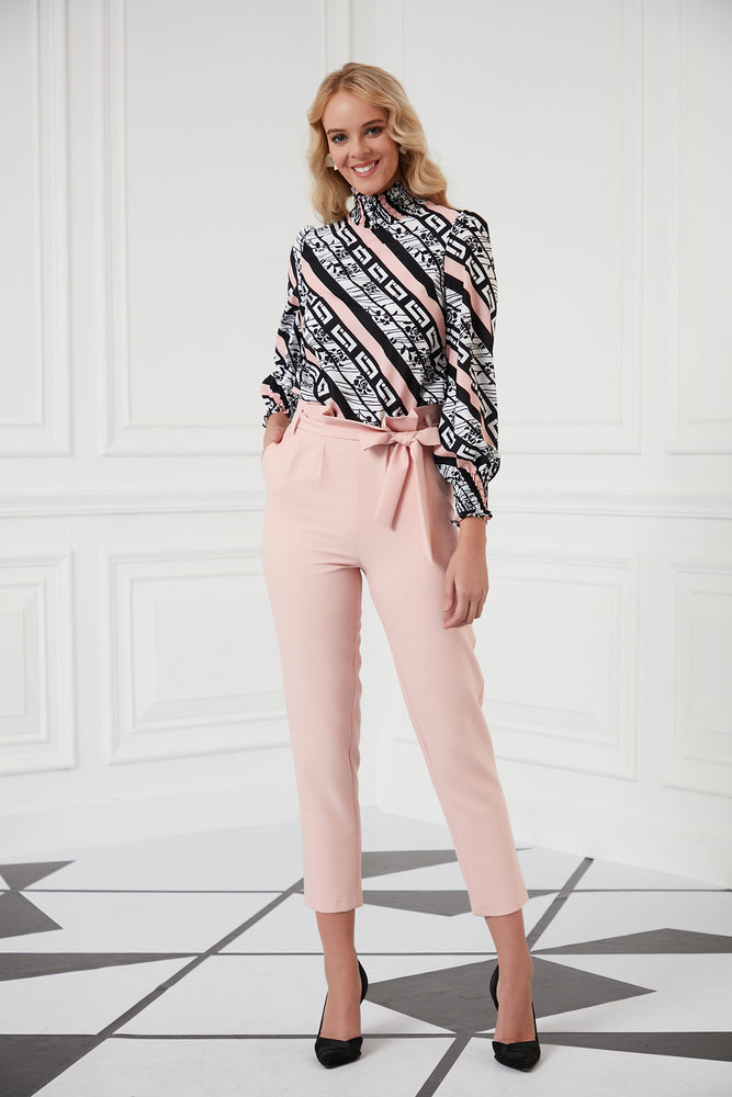 Ankle Length Trousers In Pink - Vercia Fashion Group