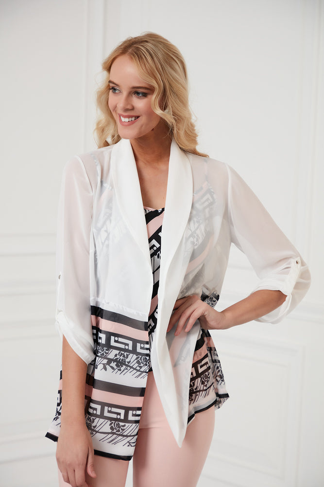 Sleeves Jacket With Camisole Top In Pink Set - Vercia Fashion Group