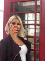 Vercia Designer Protective Face Mask In Coral Print - Vercia Fashion Group