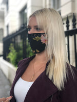 Vercia Designer Face Mask In Black Print - Vercia Fashion Group
