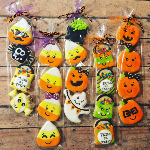 Halloween cookies in a bag