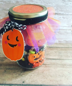Halloween cookies in a Jar